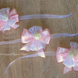 гривни за сватба в розово